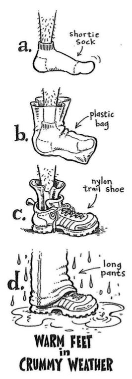 Droge voeten in natte schoenen