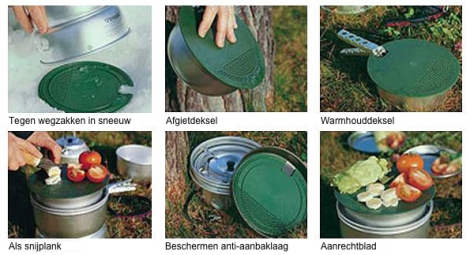 Gebruiksmogelijkheden Trangia Multi-disc