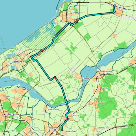 route-etappe1-jubileumestafette