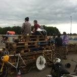 Toeschouwers Bikepolo