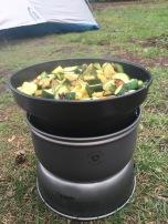 Kokkerellen op het natuurkampeerterrein