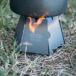 Vargo wood stove in actie