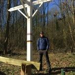 Vlak bij de grens met Duitsland