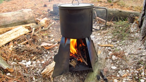 Vargo Hexagon wood stove in actie