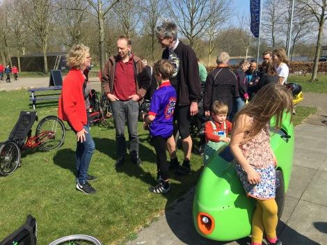 Aankomst bij bezoekerscentrum Natuurpark Lelystad