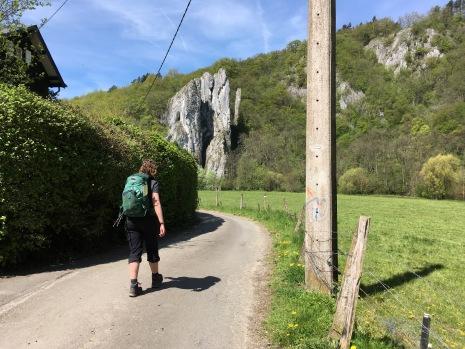 Rotswand bij Houyet
