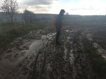 Het pad was hier en daar wat modderig