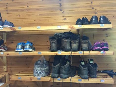 Klimaatgestuurde schoenendroogruimte