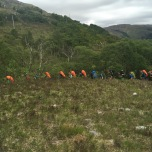 Veel backpackers op de West Highland Way