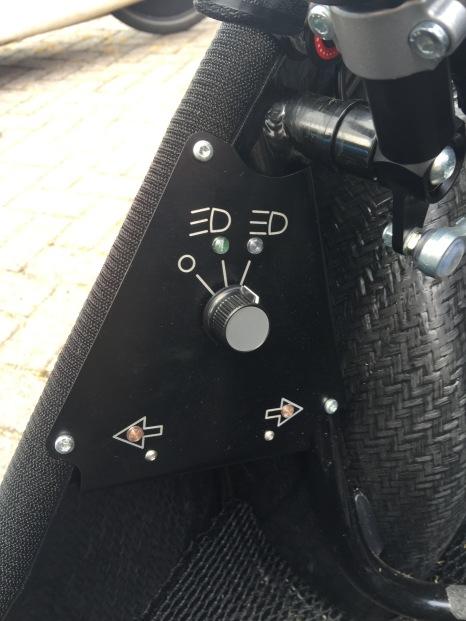 Het dashboard voor verlichting in de eOrca