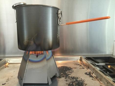 Brander in de keuken