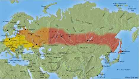 FSME-verspreiding wereldwijd met oostelijke en westelijke variant