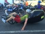 Alain Hinzen, hij crashte vorig jaar op het WK in Maasmechelen