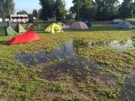 Plassen op het kampeerveld
