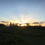 Zonsondergang bij de MiG