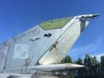 Staart van de MiG-21