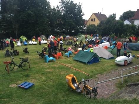 Tentjes en fietsen