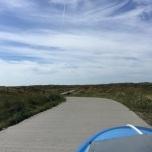 Mooi fietspad door de duinen van Texel