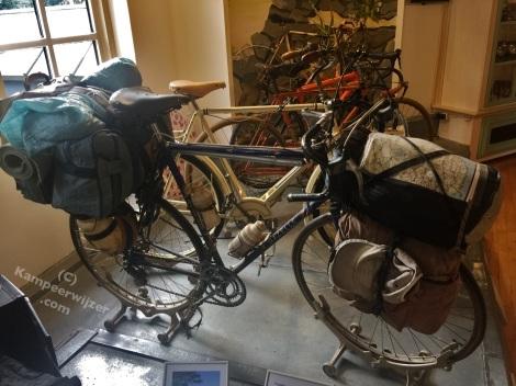Door Gazelle gebouwde fiets voor wereldfietser Frank van Rijn (1995)