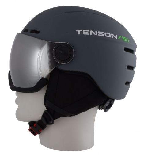 Tenson Nano Visor skihelm met vizier en oorwarmers