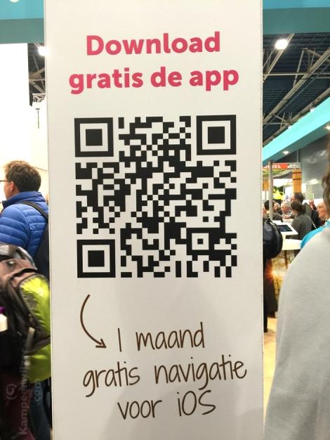 QR-code voor Route.nl app