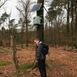 Vreemde installatie in het bos