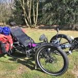 Trike met kampeerbagage