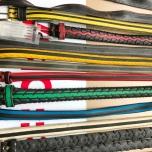 Riemen gemaakt van oude fietsbanden van Velo-Re