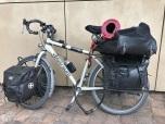 Iemand die het bikepacken nog niet begrepen heeft