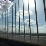 Hoogspanningsmasten bij entree Nijmegen