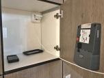 Lockers met stopcontacten