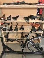 Verschillende zadels voor de bikefitting