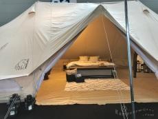 Glamping in tent van Nordisk