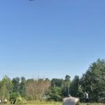 Zeppelin boven onze tent