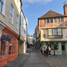 Straatbeeld in Canterbury