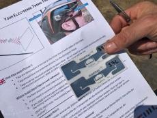 Brief met de RFID-sticker