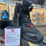 Waterdichte schoen met handige sluiting voor fietsers