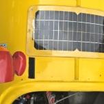 Zonnepaneel op velomobiel