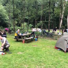 Onze tenten op Drie (foto: Jos)