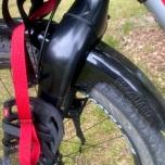 Voorspatbord op Jos zijn fiets